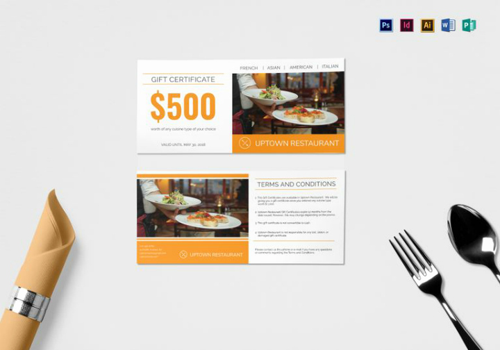 Restaurant Gift Certificates Templates New 14 Restaurant Gift Certificates