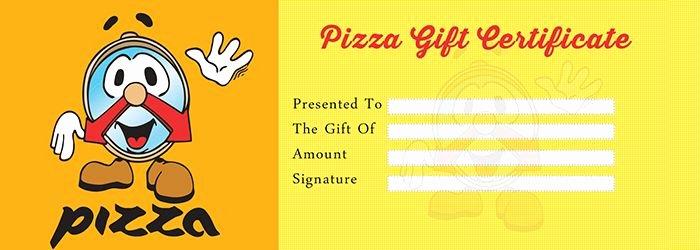 Restaurant Gift Certificates Templates Unique Pizza Gift Certificate Template Free Gift Certificate Template