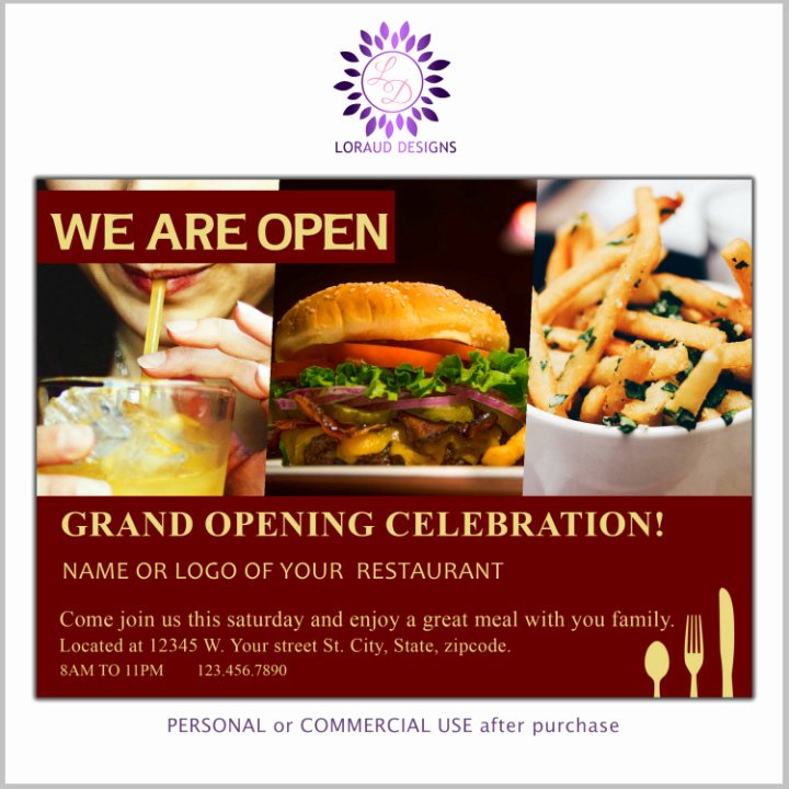 Restaurant Grand Opening Flyer Awesome 22 Restaurant Grand Opening Flyer Templates Ai Psd Word