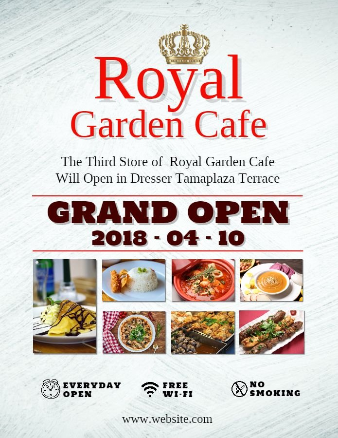 Restaurant Grand Opening Flyer Awesome Restaurant Cafe Grand Opening Invitation Poster Flyer Design Template