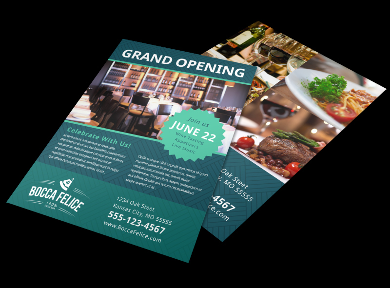 Restaurant Grand Opening Flyer Awesome Restaurant Grand Opening Flyer Template