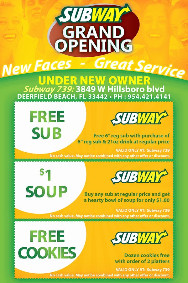 Restaurant Grand Opening Flyer Awesome Subway Restaurant Grand Opening Flyer Design Tight Designs & Printing Of Florida
