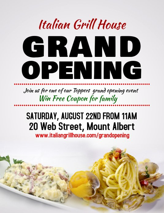 Restaurant Grand Opening Flyer Beautiful Restaurant Grand Opening Flyer Template