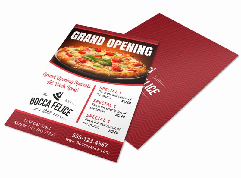 Restaurant Grand Opening Flyer Inspirational Pizza Restaurant Grand Opening Flyer Template
