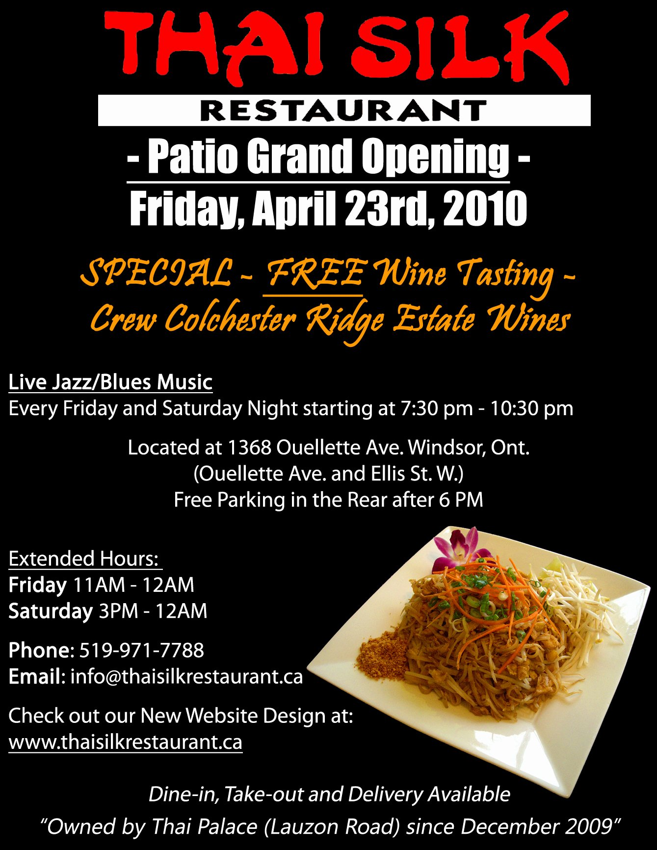 Restaurant Grand Opening Flyer Inspirational Thai Silk S Patio Grand Opening Windsoreats