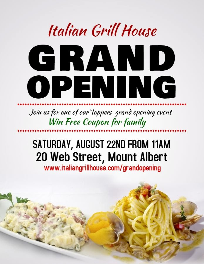 Restaurant Grand Opening Flyer Luxury 28 Best Grand Opening Flyer Templates Images On Pinterest