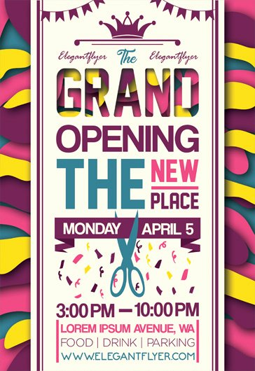 Restaurant Grand Opening Flyer New Free Grand Opening Flyer Templates