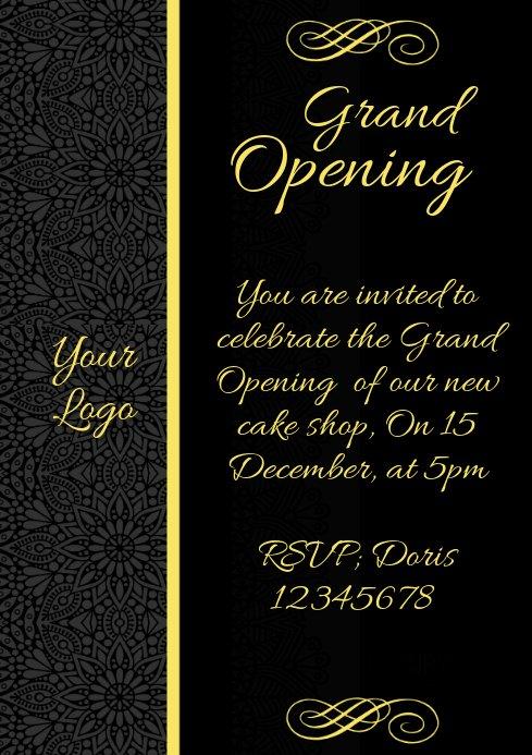 Restaurant Grand Opening Invitation Beautiful Invitation Grand Opening Restaurant Menu Card Template