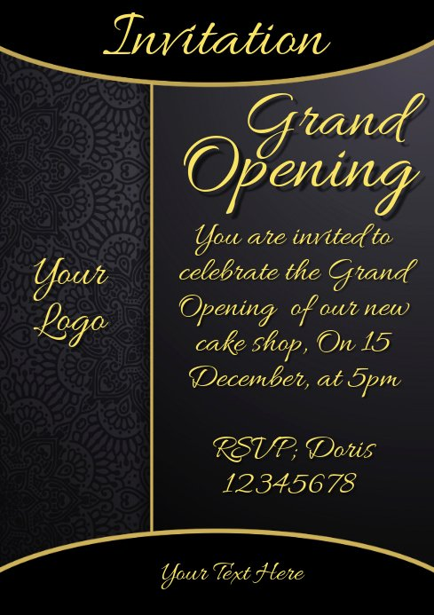 Restaurant Grand Opening Invitation Elegant Invitation Grand Opening Restaurant Menu Card Template