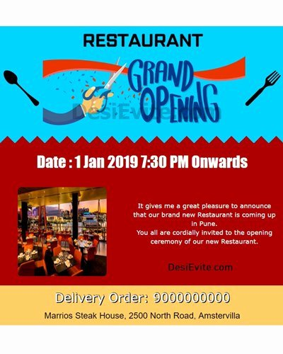 Restaurant Grand Opening Invitation Inspirational Free Fice Inauguration Opening Invitation Card & Line Invitations