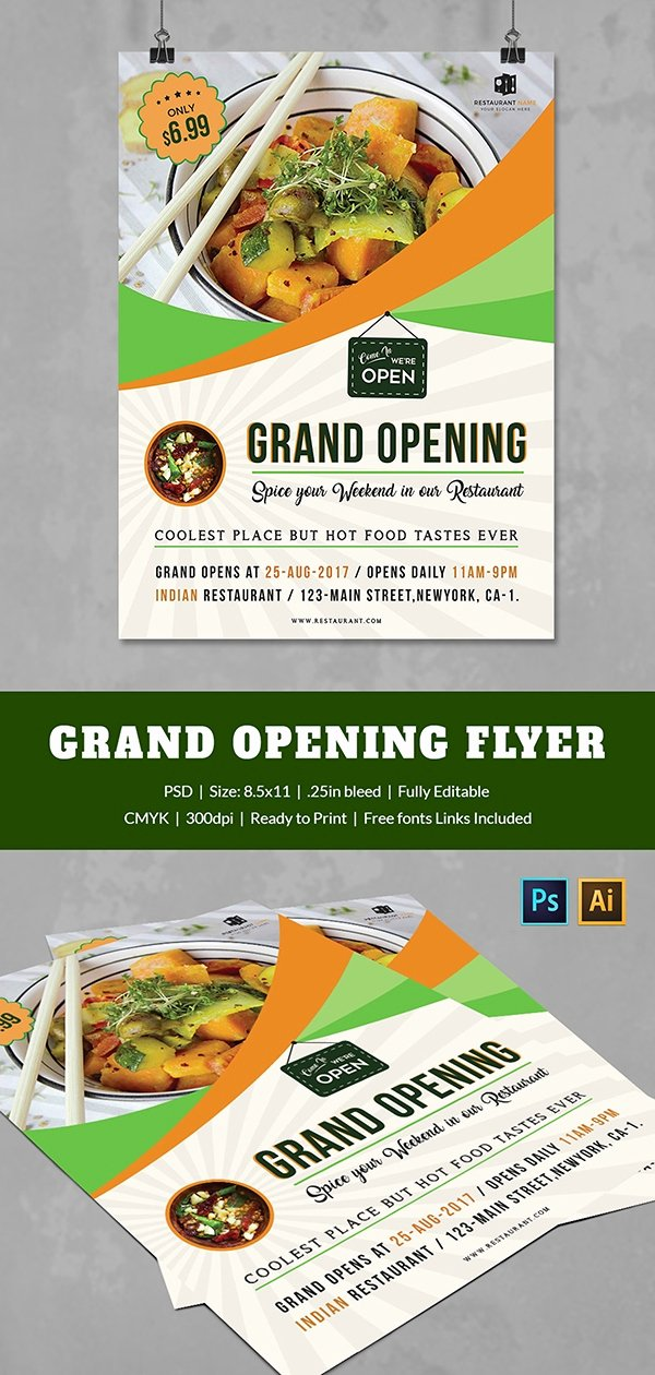 Restaurant Grand Opening Invitation Lovely Grand Opening Flyer Template 34 Free Psd Ai Vector Eps format Download