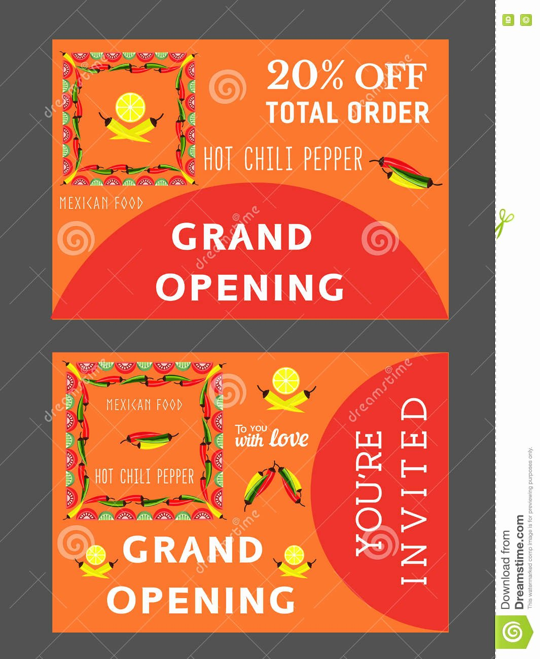 Restaurant Grand Opening Invitation New Mexican Restaurant Template Stock Vector Image