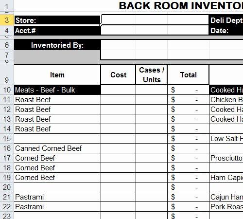 Restaurant Inventory Management Excel Fresh Free Spreadsheet Mac Worksheets