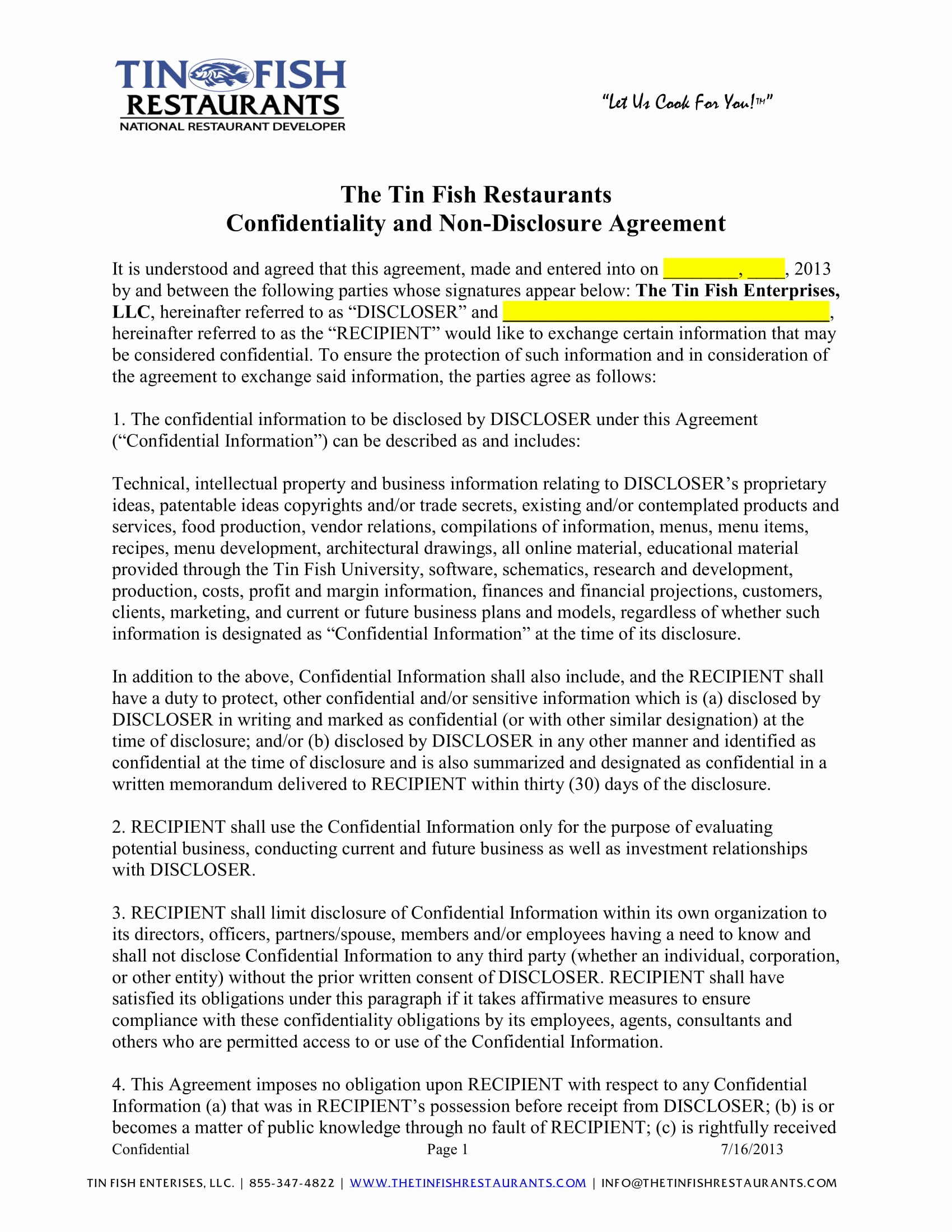 Restaurant Lease Agreement Pdf Beautiful 4 Sample Restaurant Employment forms Pdf
