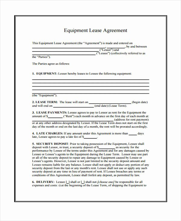 Restaurant Lease Agreement Pdf Best Of Free 39 Sample Lease Agreement forms In Pdf