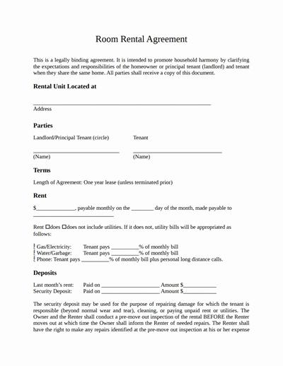 Restaurant Lease Agreement Pdf Elegant Room Rental Agreement Template Free Download Create Edit Fill Wondershare Pdfelement