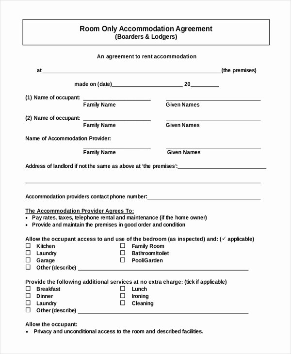 Restaurant Lease Agreement Pdf Fresh 14 Room Rental Agreement Templates Free Downloadable Samples Examples and formats