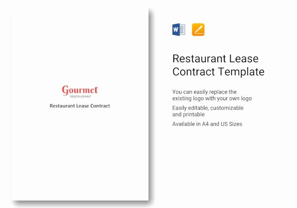 Restaurant Lease Agreement Pdf Fresh 6 Lease Contract Templates for Restaurant Cafe Bakery Pdf Doc