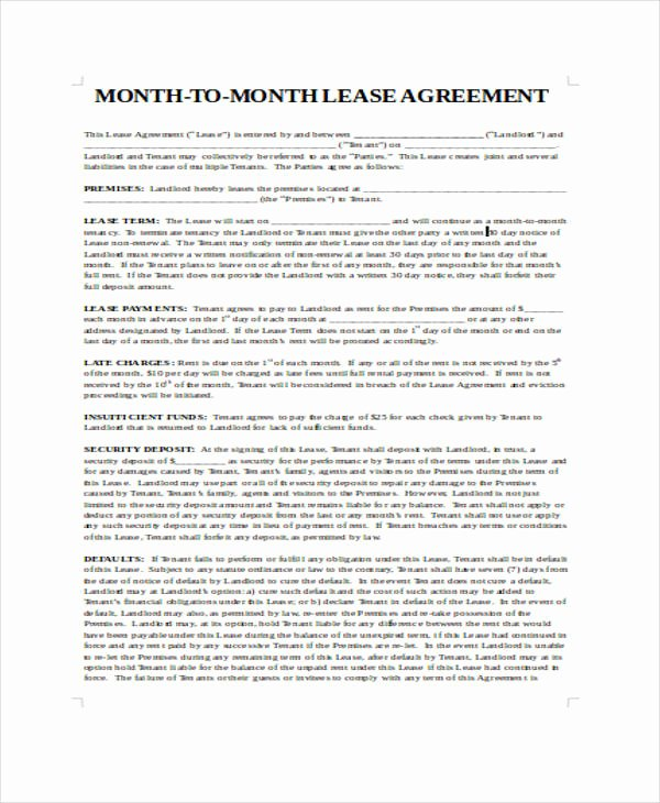 Restaurant Lease Agreement Pdf New Free 39 Sample Lease Agreement forms In Pdf