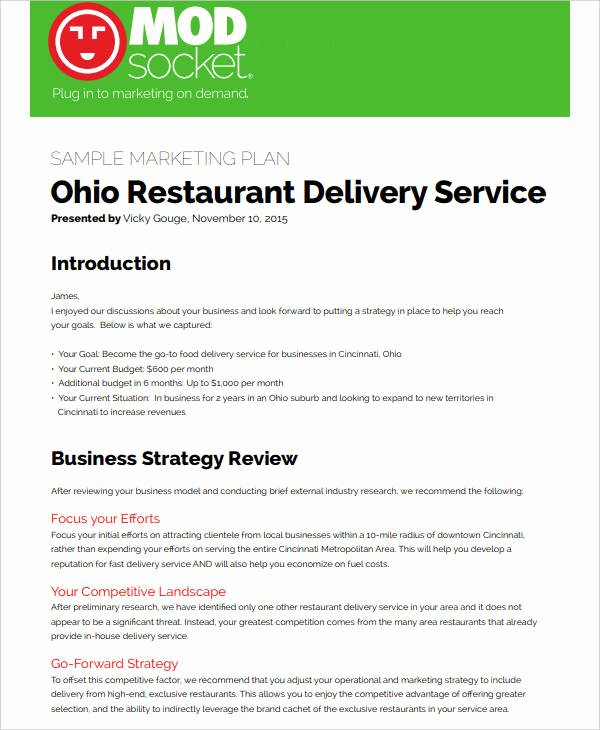 Restaurant Marketing Plan Pdf Best Of 8 Restaurant social Media Marketing Plan Pdf