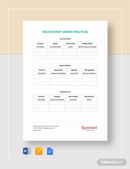 Restaurant Marketing Plan Pdf Best Of Restaurant Marketing Plan Template 13 Free Word Pdf Documents Download