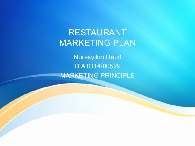 Restaurant Marketing Plan Pdf Fresh Restaurant Marketing Plan