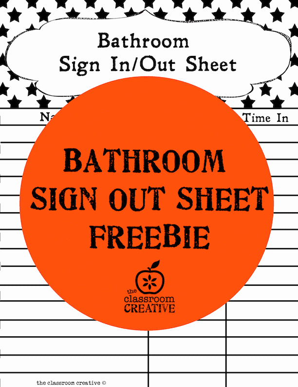 Restroom Sign Out Sheet Fresh Free Printable Bathroom Sign Out Sheet