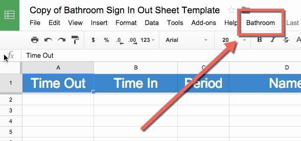 Restroom Sign Out Sheet Inspirational Bathroom Sign Out Sheet Template Teacher Tech
