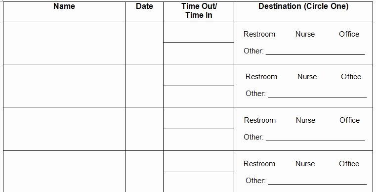 Restroom Sign Out Sheet Luxury Juice Boxes and Crayolas Management Monday Restroom Routines In the Classroom