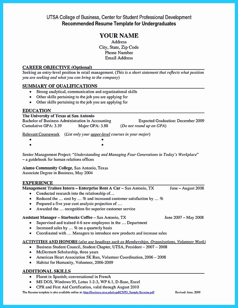 Resume for College Freshmen Unique Best Current College Student Resume with No Experience