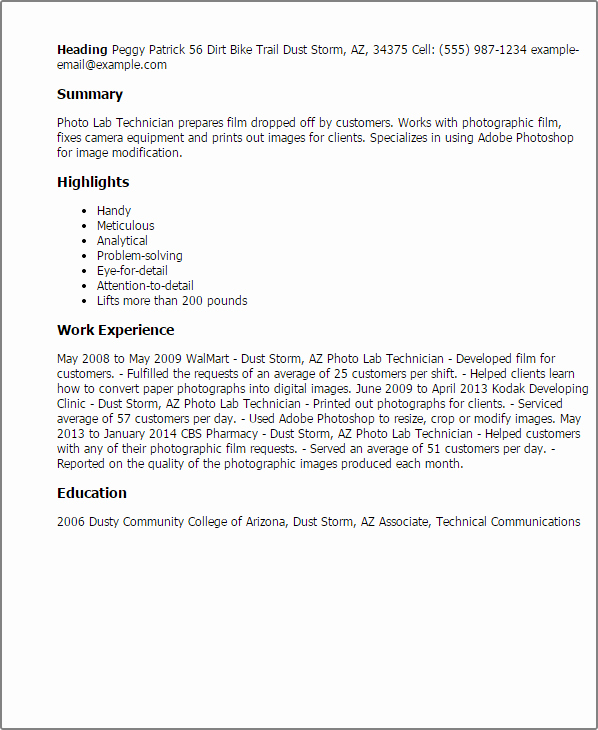 Resume for Lab Technician Best Of Professional Lab Technician Templates to Showcase Your Talent