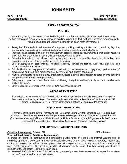 Resume for Lab Technician Elegant About My Best Friend Essay German Homework Help Sample Cv Medical Laboratory Technologist