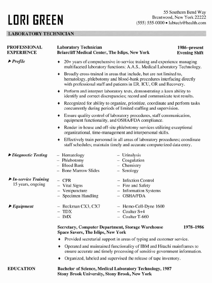 Resume for Lab Technician Lovely Best 25 Firefighter Resume Ideas On Pinterest