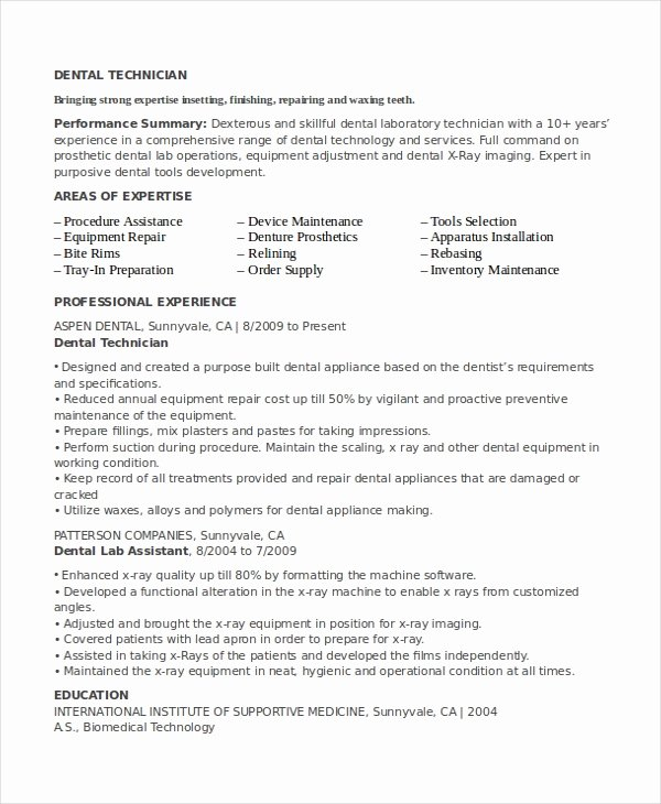 Resume for Lab Technician Lovely Resume for Lab Technician Resume Sample