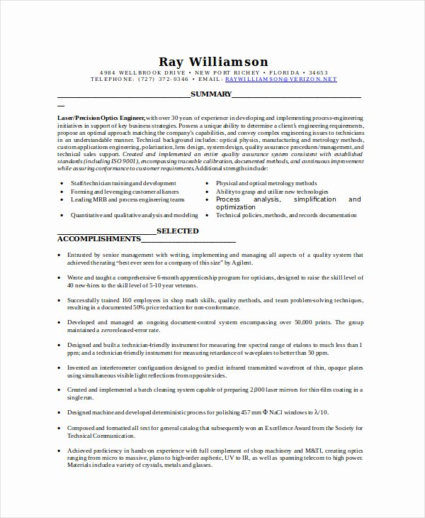 Resume for Lab Technician New Lab Technician Resume