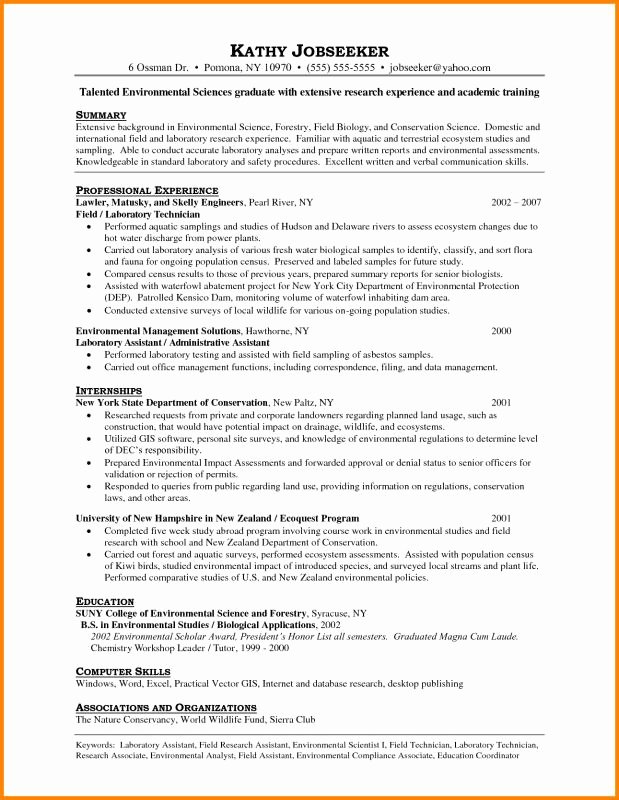 Resume for Laboratory Technician Awesome Lab Technician Resume