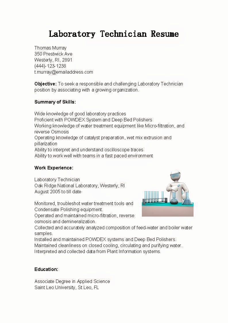 Resume for Laboratory Technician Best Of Resume Samples Laboratory Technician Resume Sample