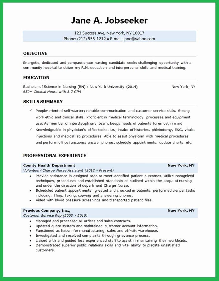 Resume for Nursing Student Beautiful Nursing Student Resume Creative Resume Design Templates Word Pinterest
