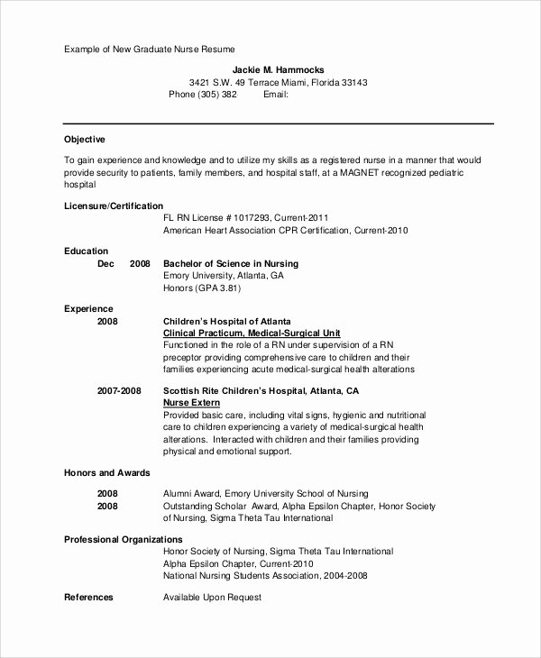 Resume for Nursing Student Beautiful Sample Nursing Student Resume 8 Examples In Word Pdf