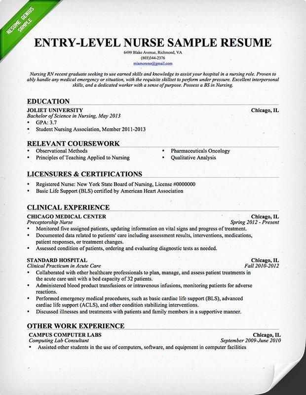 Resume for Nursing Student Best Of Nursing Resume Sample & Writing Guide