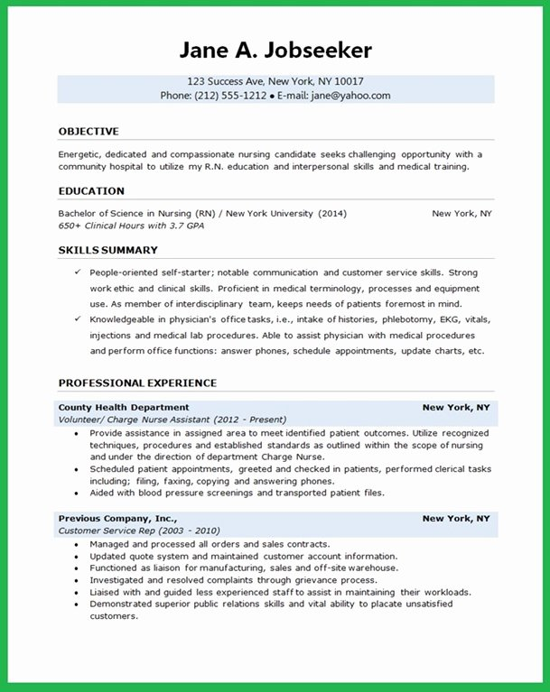 Resume for Nursing Student Lovely Nursing Student Resume