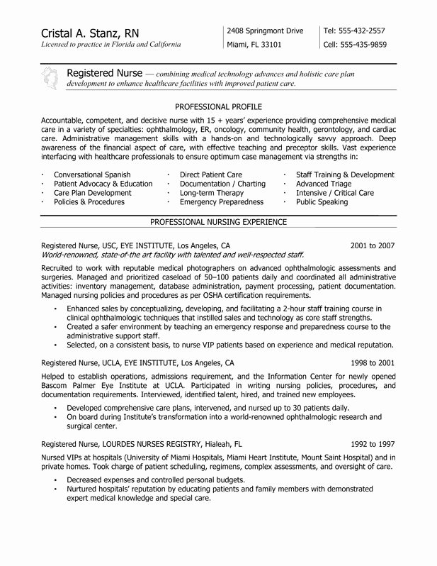 Resume for Nursing Student New New Grad Rn Resume Nurse Resume Service