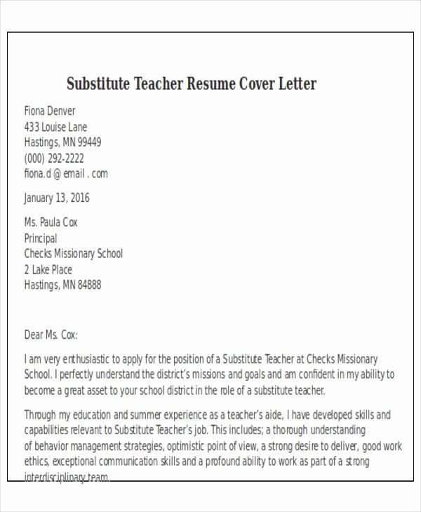 Resume for Substitute Teacher Fresh 25 Teacher Resume Templates In Word