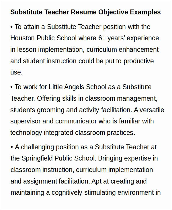 Resume for Substitute Teachers New Teacher Resume Sample 32 Free Word Pdf Documents Download