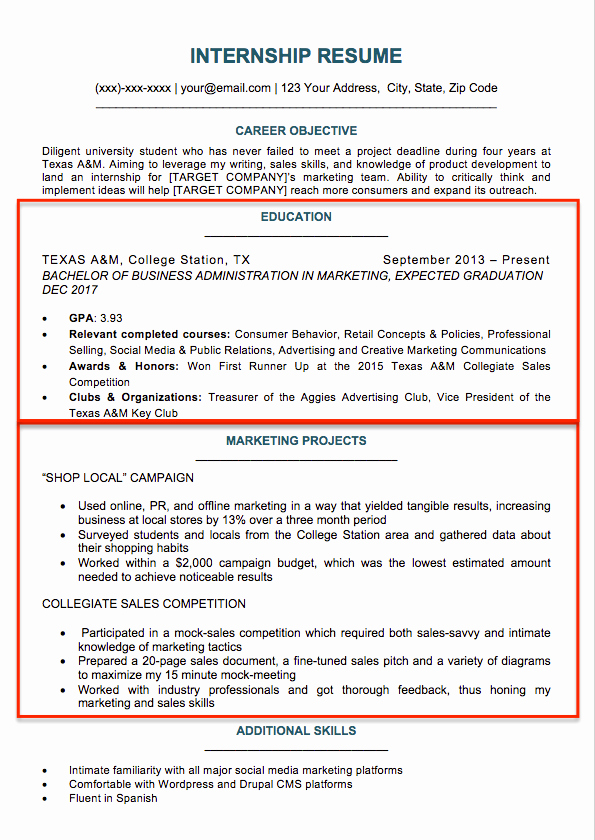 Resumes for College Freshmen Awesome 17 Best Internship Resume Templates to Download for Free Wisestep