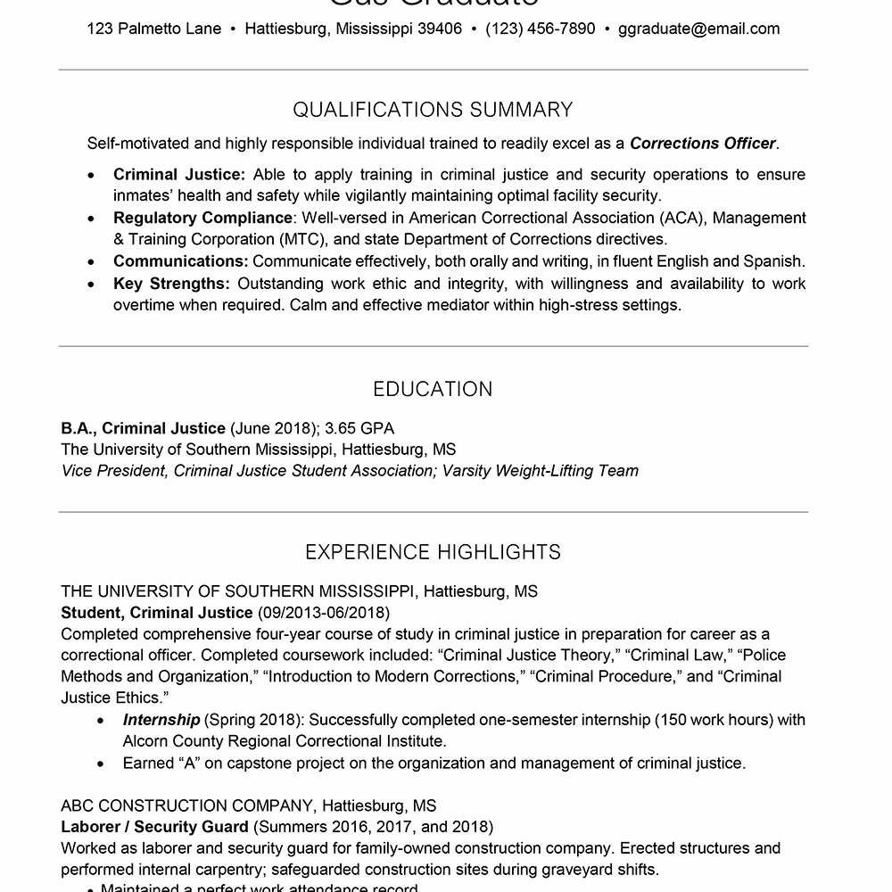Resumes for College Freshmen Fresh College Resume Template for Students and Graduates