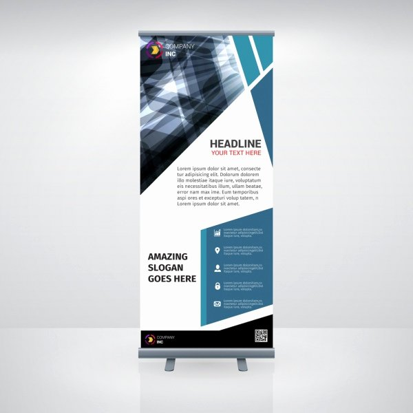 Retractable Banner Design Templates Inspirational Roll Up Banner Template Free Vector 25 744 Free Vector for Mercial Use format Ai