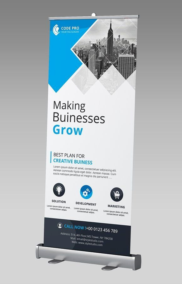 Retractable Banner Design Templates Luxury Business Rollup Banner by Creative Idea On Graphicsauthor Templates