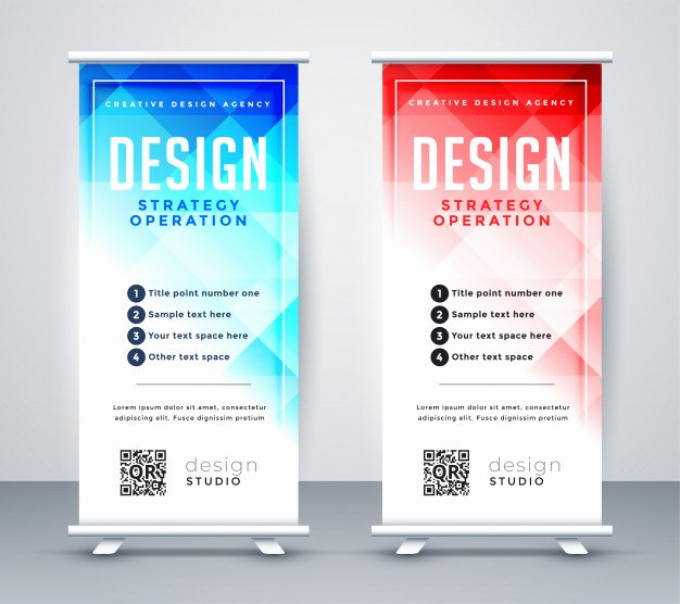 Retractable Banner Design Templates New Roll Up Vectors S and Psd Files