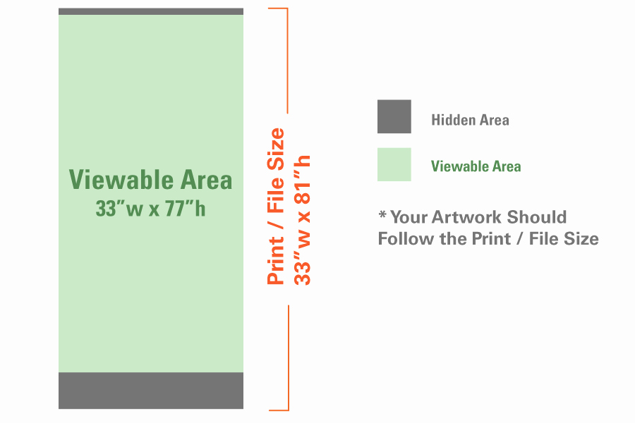 "Retractable Banner Design Templates Unique Standard Retractable Banner Stand 33""x81"" Stand Insert Overnight Grafix"